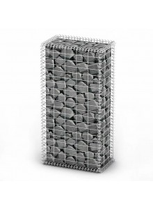 Container with Caps 100 x 50 x 30 cm Galvanized Wire