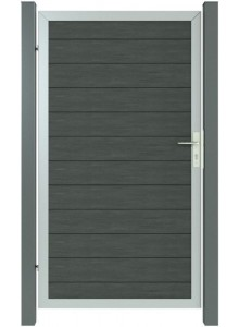 Single-leaf aluminum - wpc door openable