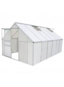 Greenhouse 490x250x195 cm from Polycarbonate Panels & Aluminum