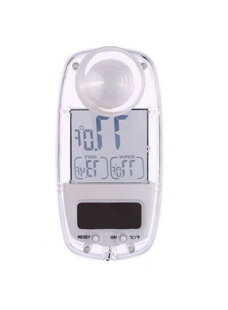 Mini Suction Cup Window LCD Display Solar Digital Thermometer Temp