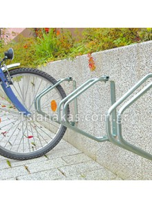 Bicycle parking system on the wall